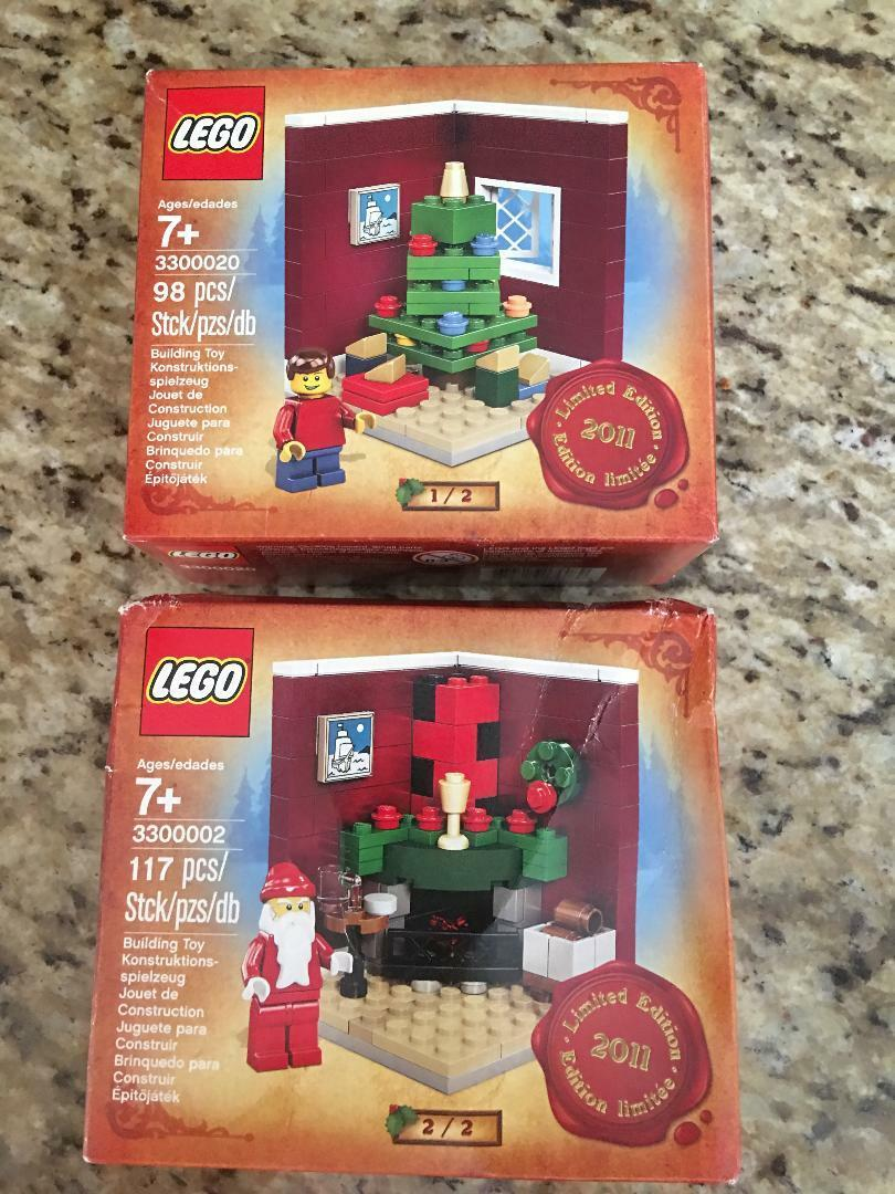 LEGO Christmas 2011 Limited Edition Sets: Santa 3300002 & 3300020 New & Sealed