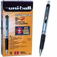 Uniball Signo Impact Rt 65872, Red Gel Ink, 1.0mm Bold Point, Box Of 12 Pens
