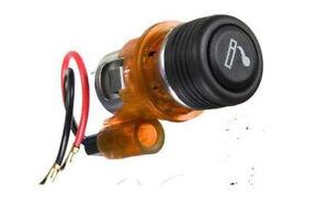 12V-Motorcycle-Car-Van-Atv-Cigarette-Lighter-Plug-with-Socket-Orange
