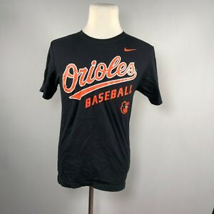 online store 5ec30 453a0 Details about Nike MLB Baltimore Orioles T-Shirt Men Size S Small Black  Graphic Tee - C64