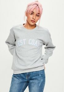 great deals 2017 professional sale pretty cheap Missguided Grey west coast sweatshirt Large | eBay