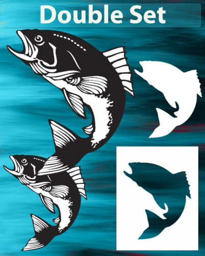 Fish Trout #1 Animal Airbrush Stencil Spray Vision Template