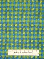 Rjr Ramblin' Woods Green Blue Plaid Checkered Check Cotton Fabric 1.9 Yards