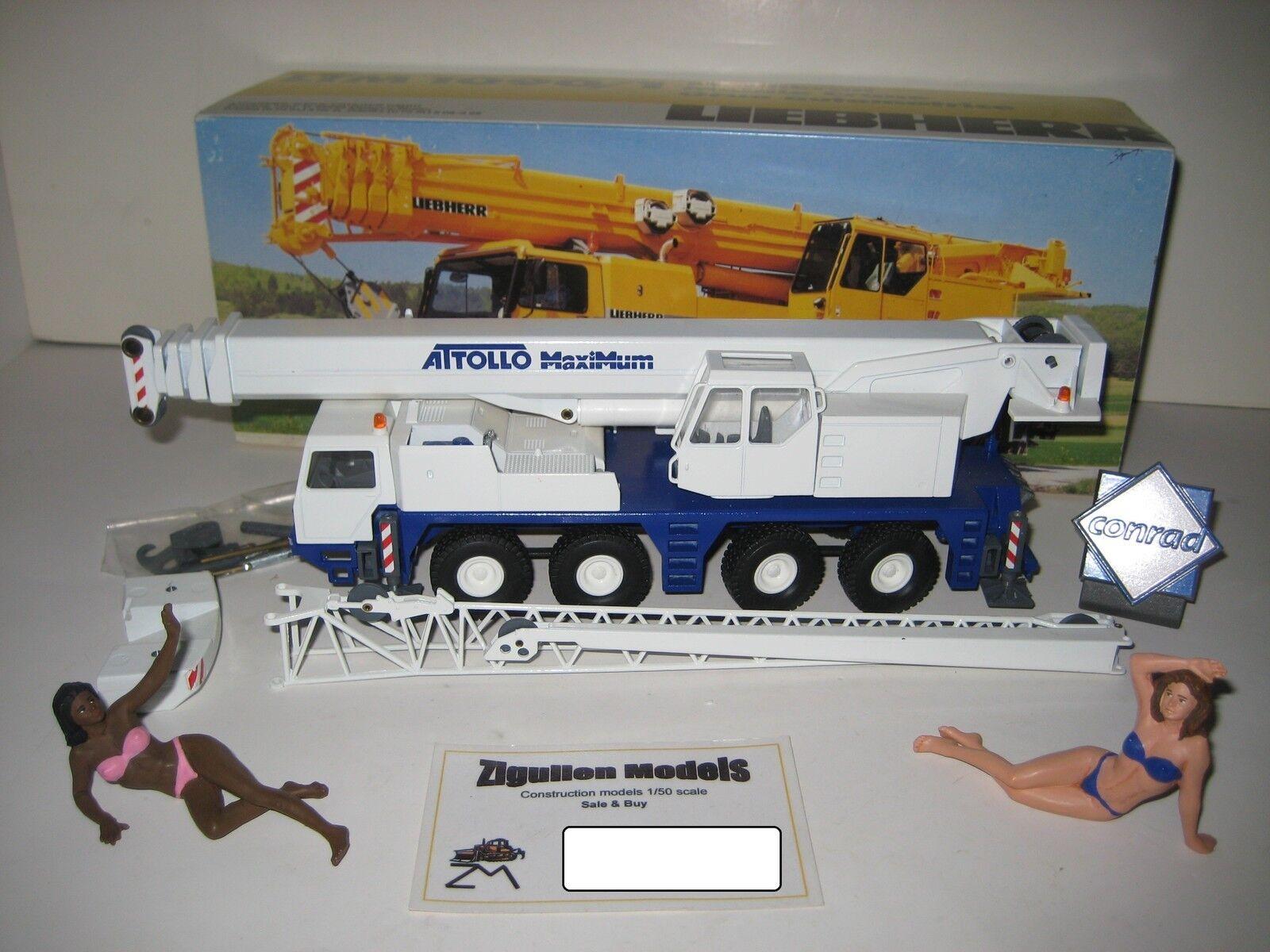 Liebherr LTM 1090-1 Autokran attollo maximum  2087.20 CONRAD 1 50 NEUF dans sa boîte