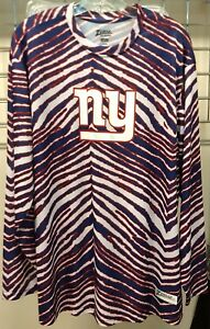 New-York-Giants-ZUBAZ-NFL-Poly-Long-Sleeve-T-Shirt-New-Size-Large-L-Discontinued