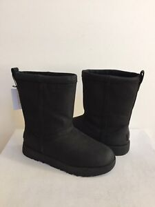 ed08dbc5071 Details about UGG CLASSIC SHORT LEATHER WATERPROOF BLACK BOOTS US 9.5 / EU  40.5 / UK 8 NIB