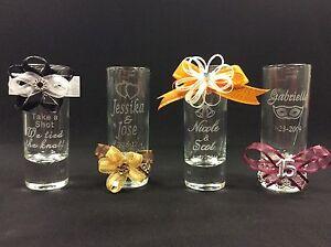 Wedding Favor Boxes For Shot Glasses : Personalized Shot Glasses - Party Favors - Wedding Favors eBay