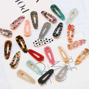 Fashion-Women-039-s-Hair-Slide-Clips-Snap-Barrette-Hairpin-Pins-Hair-Accessories-SQ