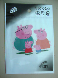 Peppa-Pig-Iron-on-Transfer-Kids-BRAND-NEW-WITH-RETAIL-PACKAGING-4-styles-choose