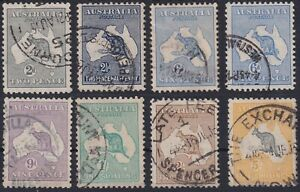 Kangaroos-1915-2nd-Wmk-set-including-the-6d-shade-variety