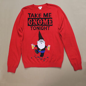 Take Me Gnome Tonight Ugly Christmas Sweater By Mossimo Supply
