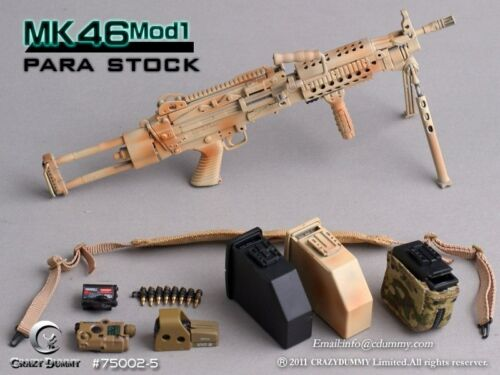 CRAZY DUMMY 1//6 MK46 MOD1 Para Stock Camo for Action Figure #CD-75002-5
