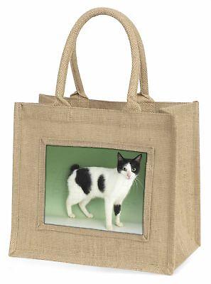 Japanisch Bobtail Katze große natürliche jute-einkaufstasche Weihnachtsgeschenk