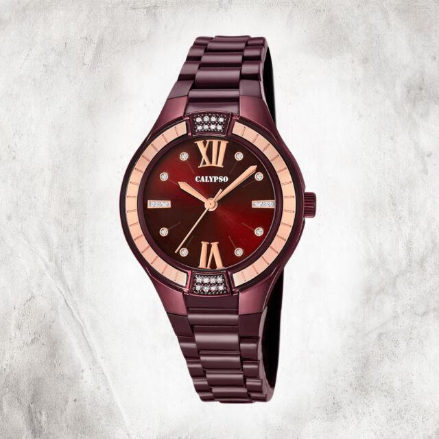 Calypso Puro Reloj de Mujer K5720/5 Pulsera Berenjena Lila Analogico UK5720/5