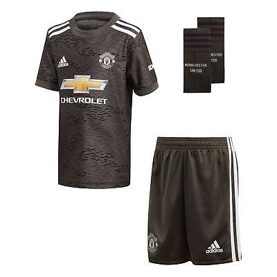 adidas Manchester United 2020//21 Kids Junior Mini Away Football Kit Green