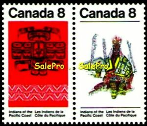 CANADA-1974-CANADIAN-INDIANS-OF-THE-PACIFIC-COAST-MINT-FV-FACE-16-CENT-STAMP-SET