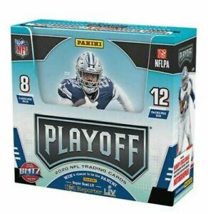 2020-Panini-Playoff-Football-Factory-Sealed-Unopened-Hobby-Box-12-Packs