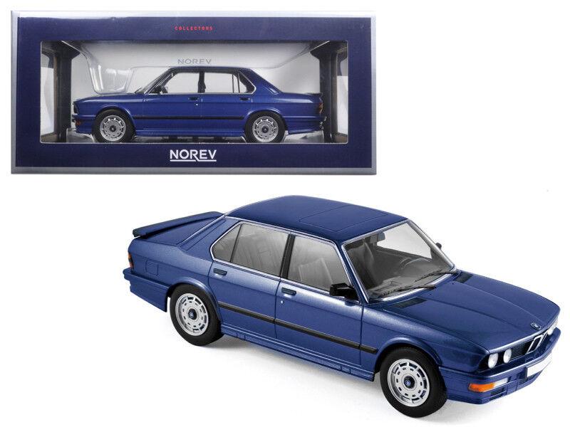 118 Norev 1987 BMW M535i Blu Mettuttiizzato modellolo Diecast Auto Blu 183267
