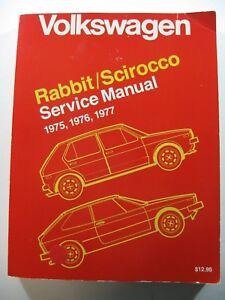 details about volkswagen service manual rabbit scirocco 1975, 1976 \u0026 1977 wiring diagrams1988 vw cabriolet engine diagram