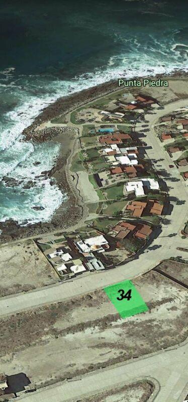 Terreno a la venta en Punta Piedra Ensenada fraccionamiento frente al mar acceso a la playa