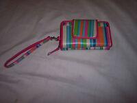 Rolfs Wallet, Wristlet,zip Around,front Snap Flap, Calculator,striped