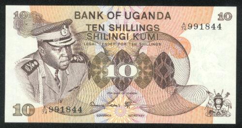 ND 10-SHILLING UGANDA p 6c 1973 UNC P6c