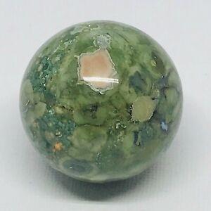 Unakite-Jasper-Green-Pink-Polished-Crystal-Sphere-4cm-1-6inch-diameter-GN-0064