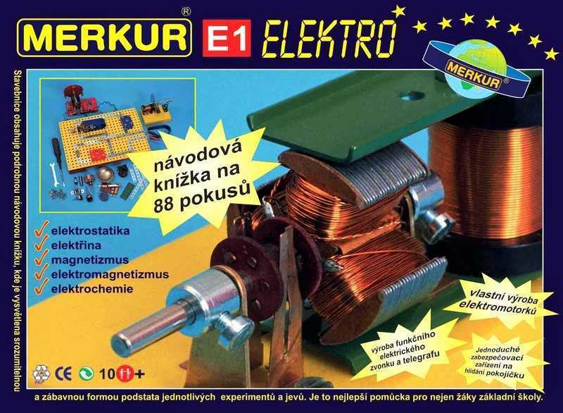 Construction set Merkur Elektro, 2,1 kg, NEW, made in CZECH REPUBLIC