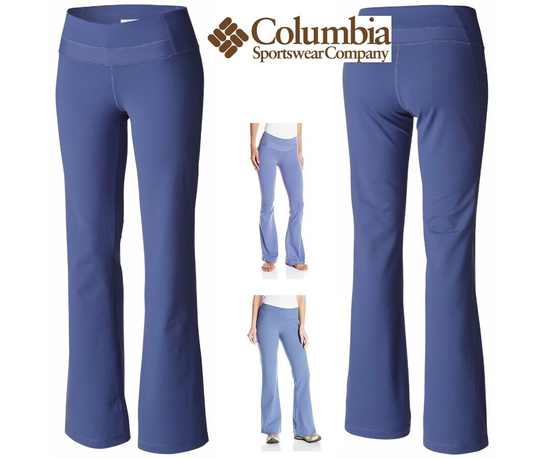 Columbia WOMEN'S size 8 regular, HALO BOOT CUT stretch PANT in blueebell bluee NWT