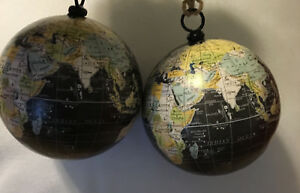 2 World Or Globe Christmas Ornaments - Mother Earth | eBay