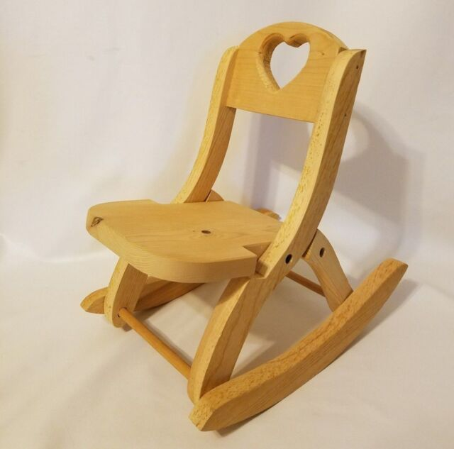 Enjoyable Unfinished Wood Ready To Paint Folding Rocking Chair Fits 18 American Girl Doll Spiritservingveterans Wood Chair Design Ideas Spiritservingveteransorg