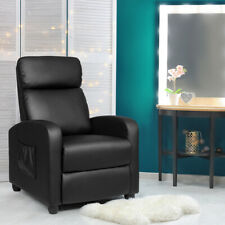 Massage Recliner Chair Single Sofa PU Leather Padded Seat w/ Footrest