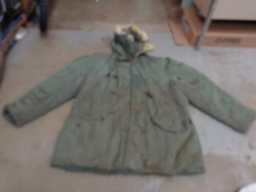 VTG ALBERT TURNER ARMY MILITARY JACKET BOMBER HOOD