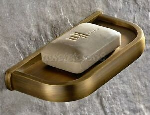 Retro-Bathroom-Accessory-Wall-Mounted-Brass-Finish-Soap-Dish-Holder-qba175