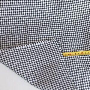 schwarz wei baumwoll stoff eingewebte pepita karos vorgewaschen meterware tolko ebay. Black Bedroom Furniture Sets. Home Design Ideas