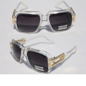 cddaff1c99 Image is loading Clear-Frame-Square-Hipster-Retro-SunGlasses-Gold-Metal-