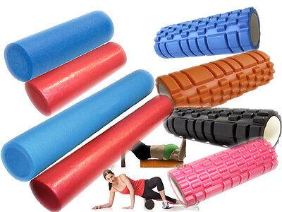 New Grid / Plain Foam Roller Yoga Pilates Massage Exercise Fitness Gym Core Body