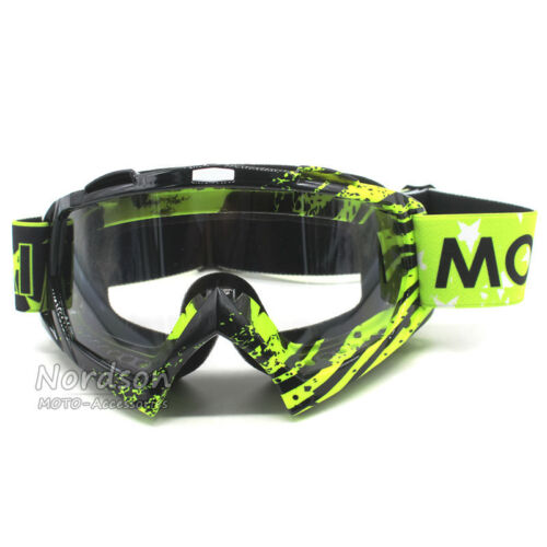 Transparent Lens Gafas Motocross Goggles For Motorcycle Dirt Bike ATV MX