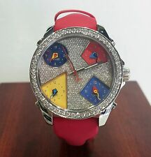 Jacob & Co Five Time Zone Diamond Dial Watch MSRP $20,100.00