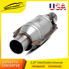 53005 Universal High Performance Catalytic Converter Round 225 Inlet Outlet