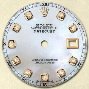 REFINED-MENS-DATEJUST-2-TONE-WHITE-MOP-DIAMOND-DIAL-RMT-FOR-ROLEX-36