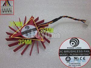 ATI-HD4850-HD4830-graphics-card-fan-Power-Logic-PLD06010B12HH-12V-4-Pin-2-Ball
