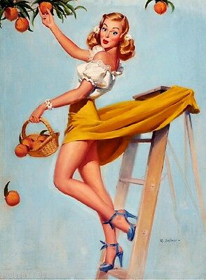 1940s Pin-Up Girl What a Peach Picture Poster Print Art Pin Up