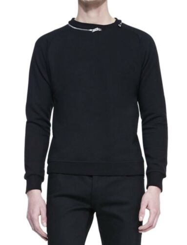 Laurent Zip negro con redondo cuello L talla sudadera suéter Saint g1wAg