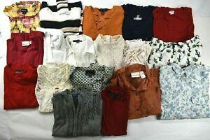 Wholesale-Lot-of-18-Women-039-s-Medium-Casual-Shirt-Blouse-Sweater-Mixed-Season-Tops
