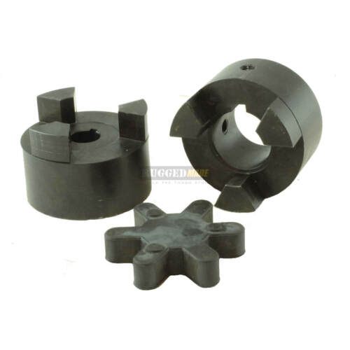 "1/"" x 9//16/"" Shaft Flexible Jaw Coupler /& Rubber Spider L095 Lovejoy Coupling Set"