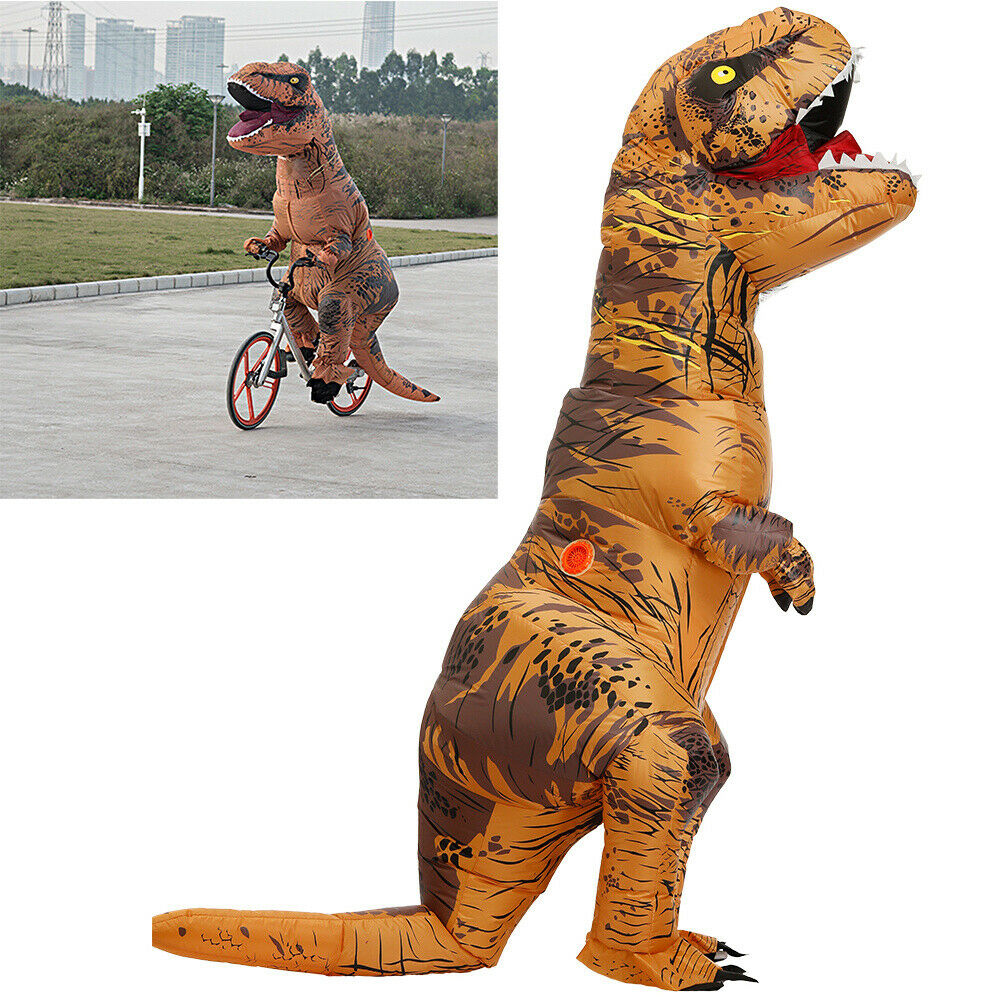 Inflatable Dinosaur Halloween Costumes Adults Funny Costume Dress Blow Up Outfit