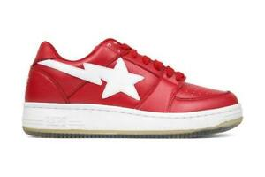 fc69671c33c A Bathing Ape BAPE Sta 1 Low  Shark Sole  in Red Free Shipping