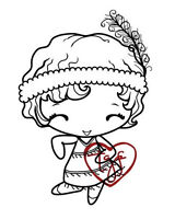 Flapper Anya-the Greeting Farm Cling Rubber Stamp-stamping Craft-retired