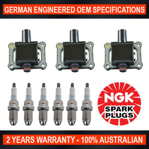 6x-Genuine-NGK-Spark-Plugs-amp-3x-Ignition-Coils-for-Mercedes-Benz-SL280-SL320